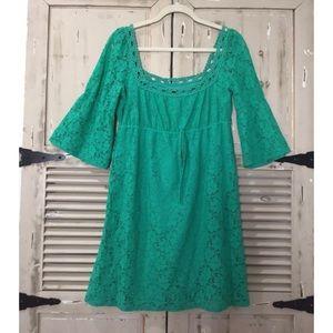 Laundry by SHELLI SEGAL Eyelet Green Dress